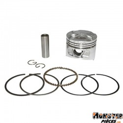 PISTON MAXISCOOTER ADAPTABLE PIAGGIO 125 X9 (DIAM 57mm)  -P2R QUALITE PREMIUM-