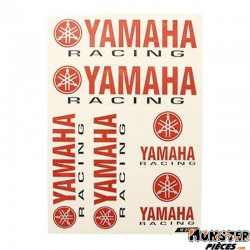 AUTOCOLLANT RACING YAM (1 PLANCHE DE 6 AUTOCOLLANTS - 330mmx220mm)