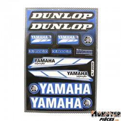 AUTOCOLLANT RACING DUNLOP (1 PLANCHE DE 12 AUTOCOLLANTS - 330mmx220mm)