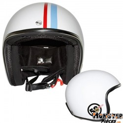 CASQUE JET ADX LEGEND COX BLANC BRILLANT   S