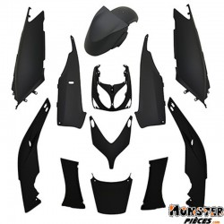 CARROSSERIE-CARENAGE MAXISCOOTER ADAPTABLE YAMAHA 500 TMAX 2001+2007 NOIR MAT -STYLE ORIGINE- (KIT 12 PIECES)