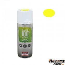 BOMBE DE PEINTURE AREXONS ACRYLIQUE FLUO JAUNE spray 400 ml (3685)