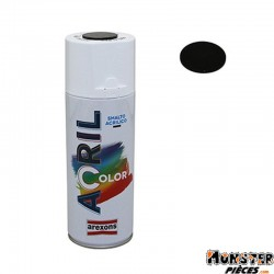 BOMBE DE PEINTURE AREXONS ACRYLIQUE NOIR INTENSE RAL 9005 spray 400 ml (3934)