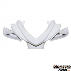 CARENAGE-COUVRE GUIDON SCOOT ADAPTABLE MBK 50 NITRO 2013+-YAMAHA 50 AEROX 2013+ BLANC BRILLANT