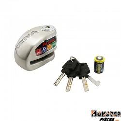 ANTIVOL BLOQUE DISQUE XENA XX6 INOX AVEC ALARME 120 dB (CLASSE SRA) (DIAM 6 mm)