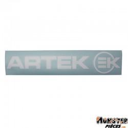 AUTOCOLLANT ARTEK BLANC (PLANCHE 390mm x 90mm AVEC 1 ARTEK et 1 EK)