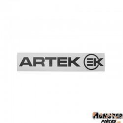 AUTOCOLLANT ARTEK NOIR (PLANCHE 215mm x 45mm AVEC 1 ARTEK et 1 EK)