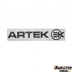 AUTOCOLLANT ARTEK NOIR (PLANCHE 280mm x 60mm AVEC 1 ARTEK et 1 EK)