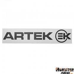 AUTOCOLLANT ARTEK NOIR (PLANCHE 390mm x 90mm AVEC 1 ARTEK et 1 EK)