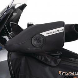 MANCHON MOTO-MAXISCOOTER TUCANO NEOPRENE UNIVERSEL POUR GUIDON AVEC STABILISATEURS ET INTERRUPTEURS (AVEC DOUBLURE THERMIQUE + R
