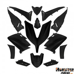 CARROSSERIE-CARENAGE MAXISCOOTER ADAPTABLE YAMAHA 530 TMAX 2015+2016 NOIR MAT (KIT 14 PIECES)