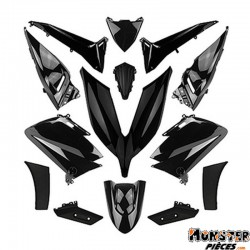 CARROSSERIE-CARENAGE MAXISCOOTER ADAPTABLE YAMAHA 530 TMAX 2015+2016 NOIR BRILLANT (KIT 14 PIECES)