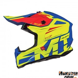 CASQUE CROSS ADULTE MT FALCON WESTON JAUNE BRILLANT L  (BOUCLE DOUBLE D)