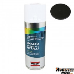 APPRET-FOND DE PREPARATION AREXONS ACRYLIQUE SPECIAL METAL NOIR INTENSE MAT RAL 9005 spray 400 ml (3850)