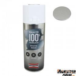 BOMBE DE PEINTURE AREXONS ACRYLIQUE 100 GRIS ZINC EFFET METALISE spray 400 ml (3674)