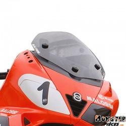 BULLE-SAUTE VENT MAXISCOOTER POUR GILERA 125-250-300-500 NEXUS-APRILIA 125-300 SR-MAX (FUME)  -MALOSSI-