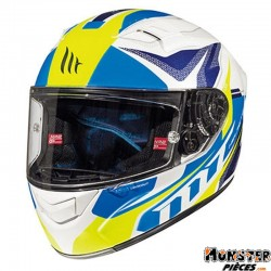 CASQUE INTEGRAL ADULTE MT FF103 KRE LOOKOUT BLANC-BLEU-JAUNE BRILLANT    XS  (BOUCLE DOUBLE D)