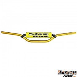 GUIDON MOTO STAR BAR CROSS MX-ENDURO ALU 2014 T6 DIAM 22,2mm L800mm H86mm OR AVEC BARRE DE RENFORT