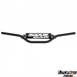 GUIDON MOTO STAR BAR CROSS MX-ENDURO ALU 2014 T6 DIAM 22,2mm L800mm H86mm NOIR AVEC BARRE DE RENFORT