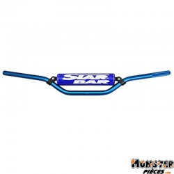 GUIDON MOTO STAR BAR CROSS MX-ENDURO ALU 2014 T6 DIAM 22,2mm L800mm H86mm BLEU AVEC BARRE DE RENFORT