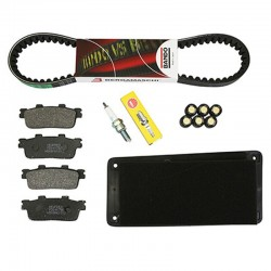 KIT ENTRETIEN MAXISCOOTER ADAPTABLE SYM 125 GTS 2005+2009, 125 GTS EVO 2013+2014  -SELECTION P2R-