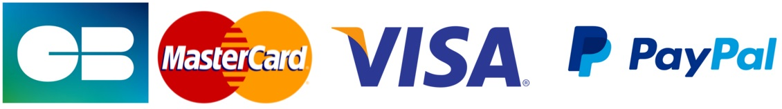 Paiement par Visa, Mastercard, PayPal, Virement bancaire